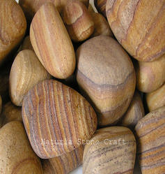 Radica Burl Natural Stone Sandstone Pebbles, for Landscaping , Packaging Type: Cartoon Box