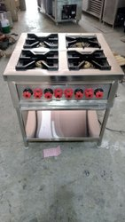 Stainless Steel Four Burner Range