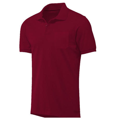 7b2ab187a4cdc Red Cotton Linen Polo T- Shirt