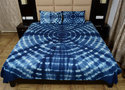 Shibori & Tie Dye Cotton Thick Fabric Bed Sheet