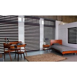 Fabric Horizontal Zebra Blind, For For Window Use Only
