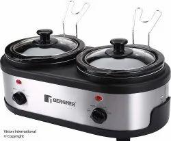 BERGNER Black Slow Cooker, Capacity: 3 Ltr