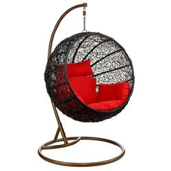 Black Round Swing Chair