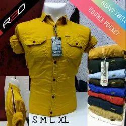 R20 Men Cargo Plain Shirt