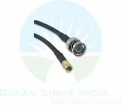 RF Cable Assembly SMA Male to BNC Male Bulk Head in RG58