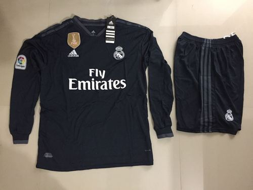 0812eb94882 Imported Full Sleeves REAL MADRID AWAY KIT JERSEY WITH SHORT 2019 FULL  SLEEVE
