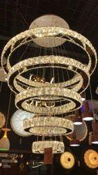 Glass LED Hanging Chandelier