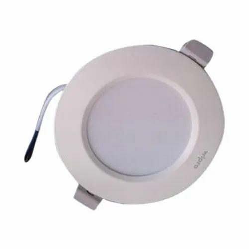 5 W Cool White Wipro Garnet LED Deep Light, Shape: Round