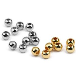Sterling Silver Beads, Size: 2-6mm, Shape: Round