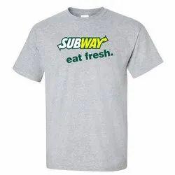 Unisex Hosiery Men Round Neck T Shirts