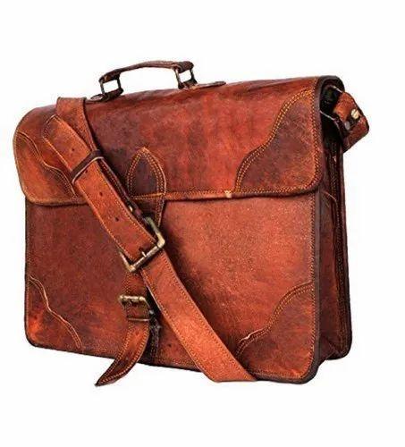 dcf3c712c1db 15'' Real Leather Laptop Satchel Messenger Bag For Men & Women By Znt Bags