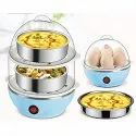Electric Cooker Plastic Egg Steamer for Home Food Boiling Cooker - DOUBLE_LAYER_EGG_BOILER