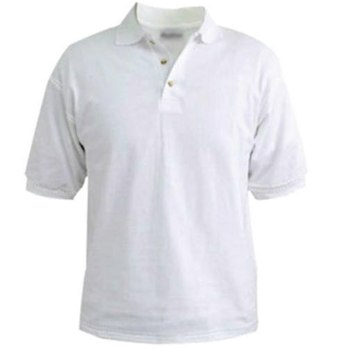c78d531fd2fdc Large Half Sleeves White Plain Collar T-Shirt, Rs 110 /piece | ID ...