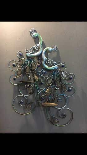 Peacock Wall Decor With Candle Holder