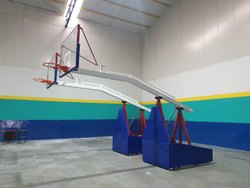 Basketball Post - Movable and Height Adjustable