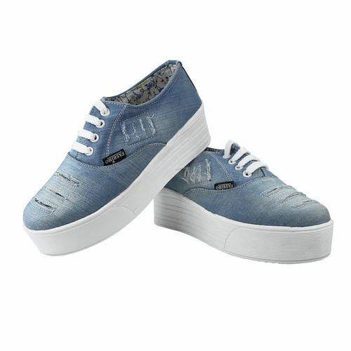 Blue Fashimo Girls Denim Casual Shoe