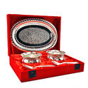Wedding Gift Silver Plated Handi Bowl Set