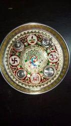 Stainless Steel Handicraft Pooja Thali
