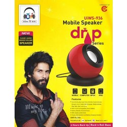 U&I Black And Red UiWS-936 Drop Series Mobile Speaker, 5w