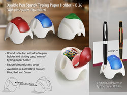 Round Table Top With Double Double Pen Holder, Pin Holder