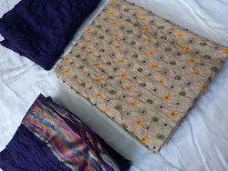 Poonam sarees Cotton Ladies Designer Churidar Suit, Handwash