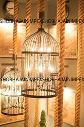 Traditional Caged Iron Chandelier