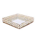 Square Crystal Mirror Tray