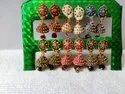 Stylish Party Wear Latest Design Multicolor Traditional Small Drop Jhumkis Combo Of 6