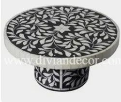 Bone Inlay Cake Stand