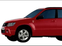 Red Maruti Suzuki Grand Vitara