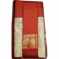 6.3m Party Wear Banarasi Self Weave Saree, With Blouse Piece