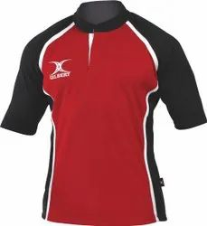 Red and Black Printed Cricket Uniform