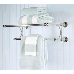 Stainless Steel Silver SS Double Towel Rack, For Bathroom