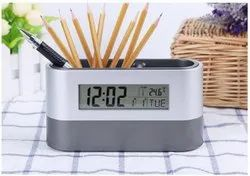 Digital Snooze Alarm Clock with Pen Holder - Giftana