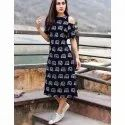 Designer Off Shoulder Cotton Kurti