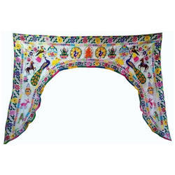 Handmade Door Valances Indian Patchwork Window Curtain