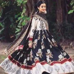 Ladies Anarkali Kurti Gown With Dupatta