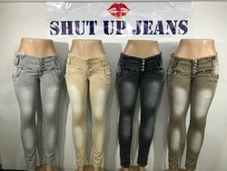 SHUT UP JEANS By CJ Skinny Fit Fully Stretchable Womens Denim Jeans, Packaging Type: Box, Size: 28-40