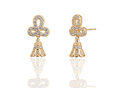 24k Flower Design Gold Plated Brass Jhumki Earrings