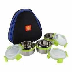 Rident Kitchen Stainless Steel Insulated Sleek & Premium Lunch Box, 3 Containers Of 300 Ml Each, Size: Big