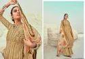 Latest Jam Satin Designer Dress Material Kesar Rubab