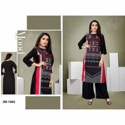 Fancy Digital Printed Rayon Kurti