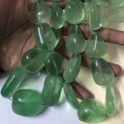 Natural AAA Fluorite Gemstone Smooth Tumble Beads