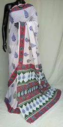 Exclusive Bagru Hand Block Printed Cotton Saree