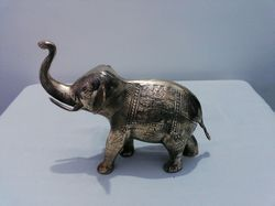 Solid Brass Engrave Elephant