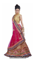 Cerise Pink Lehenga With Heavy Threadwork