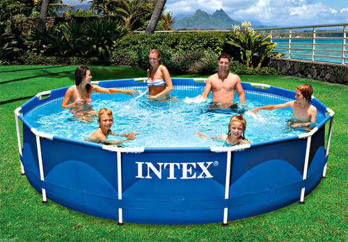 Intex Inflatable Pool & Toys 10ft X 30in Metal Frame Pool