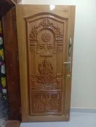 Exterior Wood Carved Panel Door