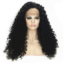 Long Black Curly full lase wig