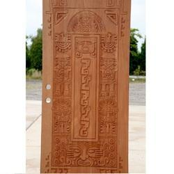 Hand Carved Wood Door